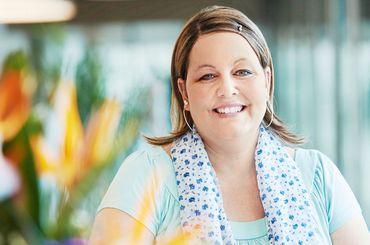 Patientin mit Brustkrebs