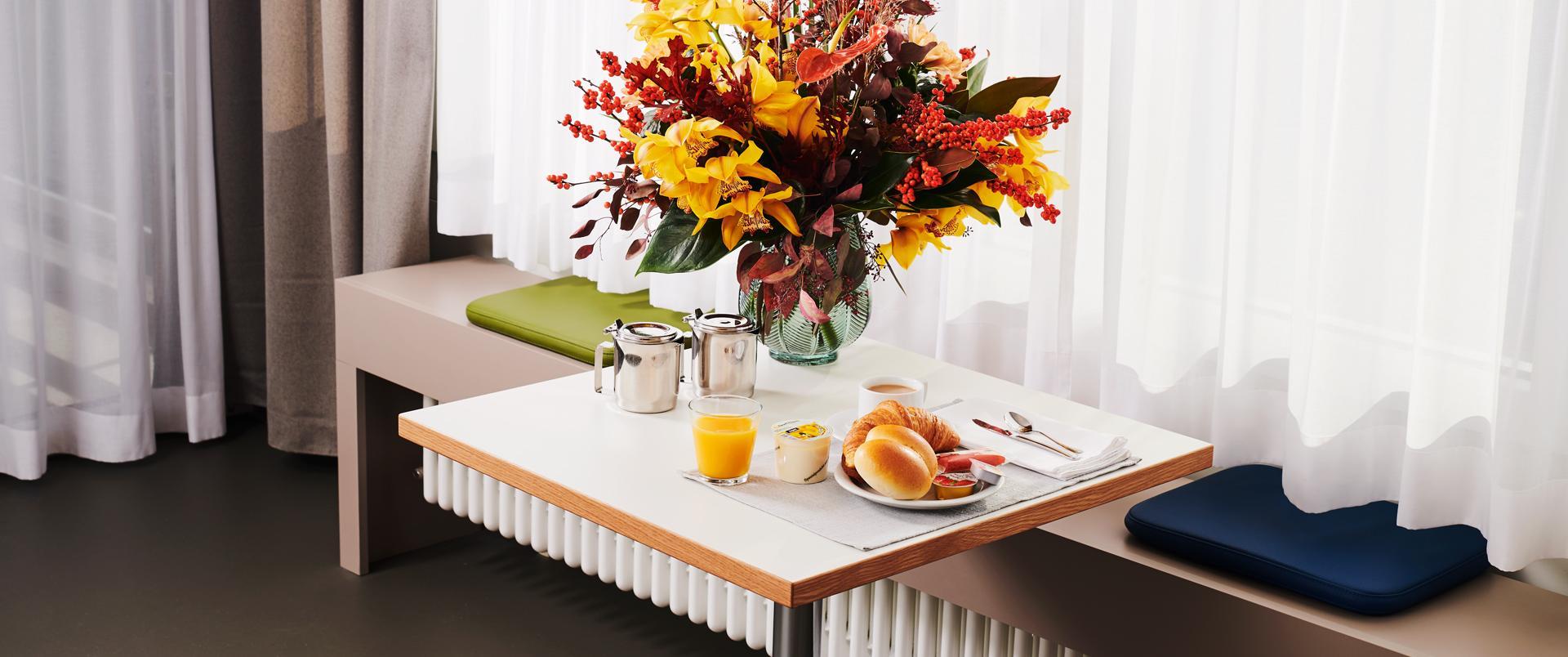 Frühstück auf der Privatabteilung SRO Plus