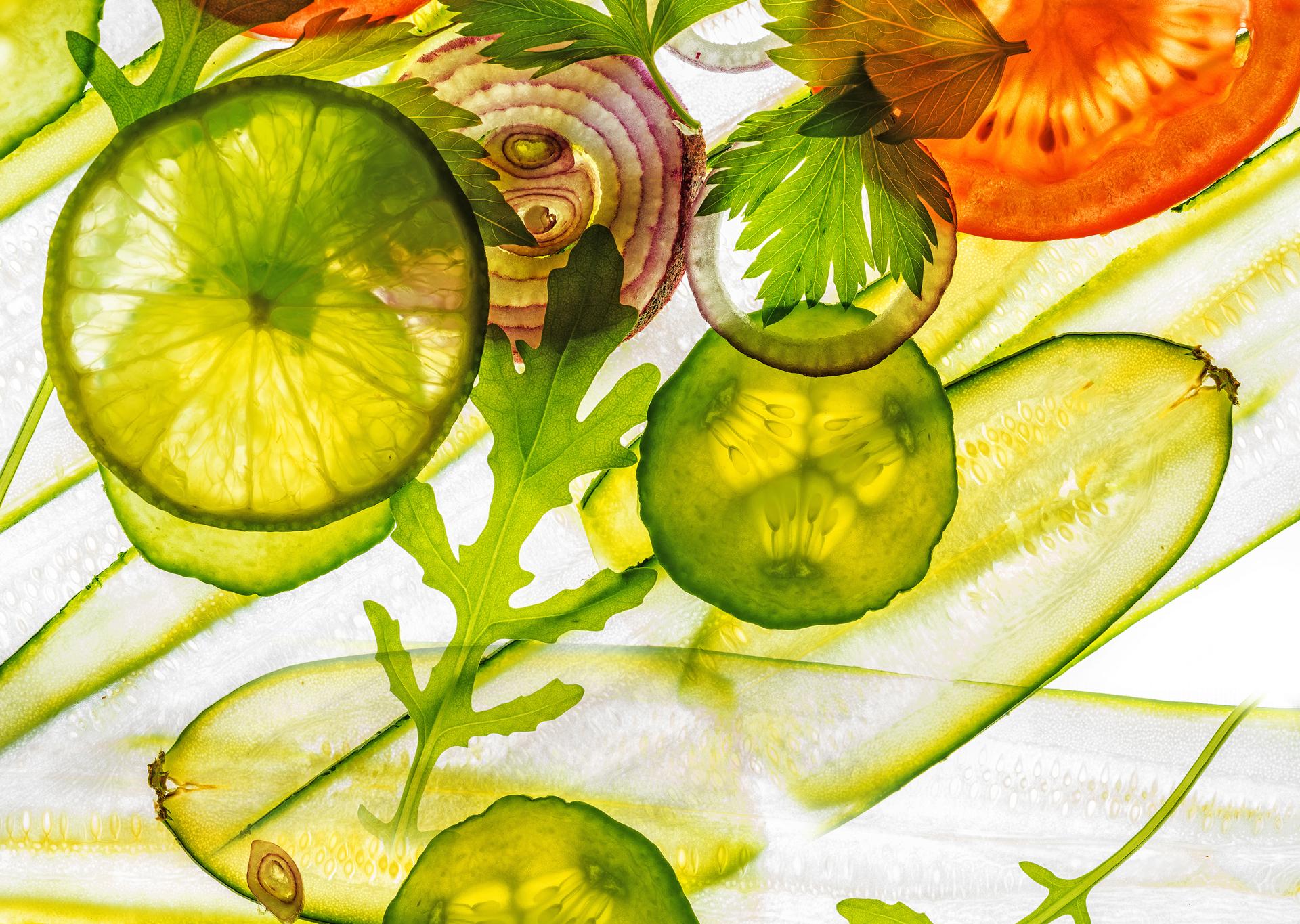 Grafische Darstellung von Gemüse