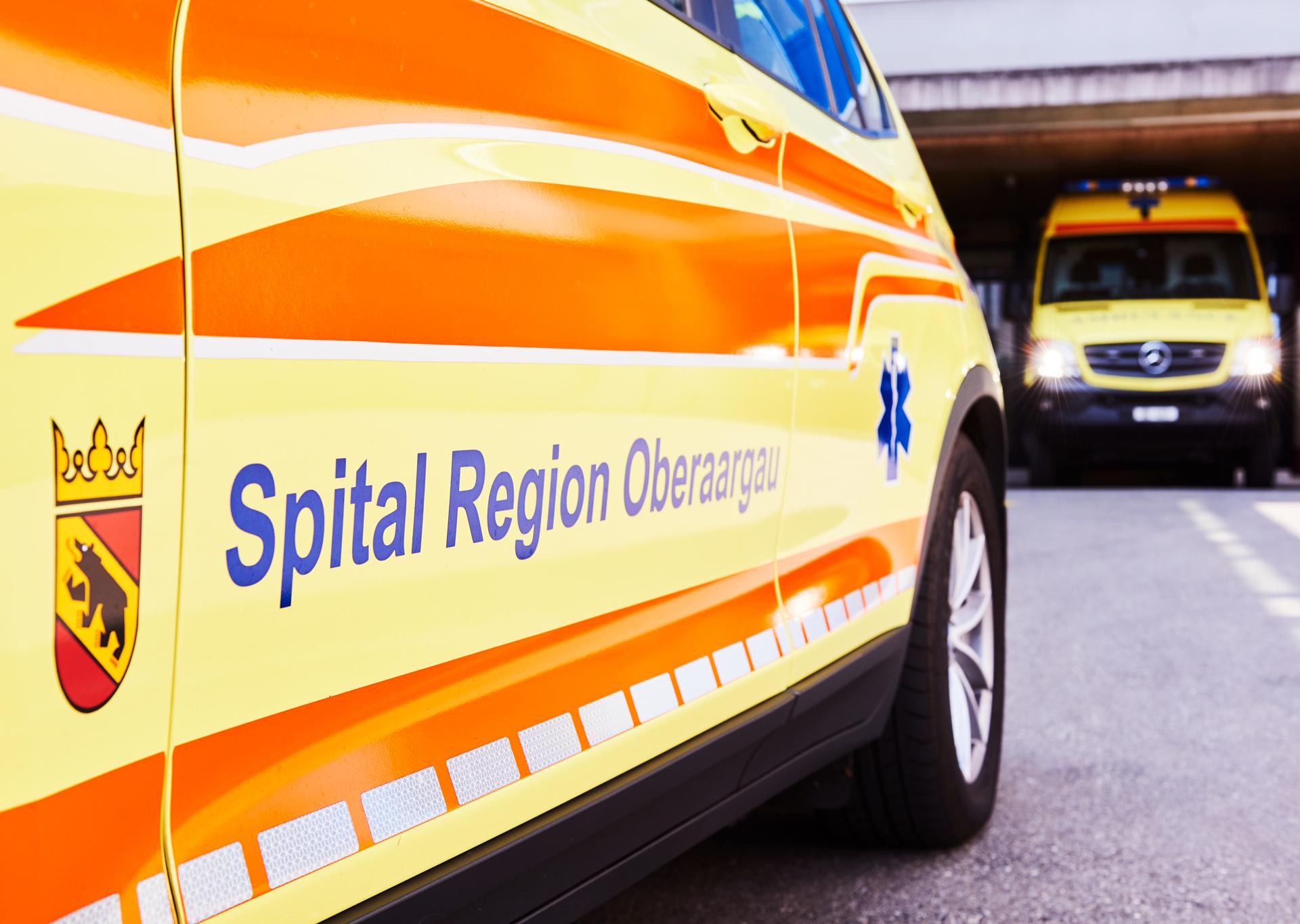 Ambulanz vom Rettungsdienst der SRO AG