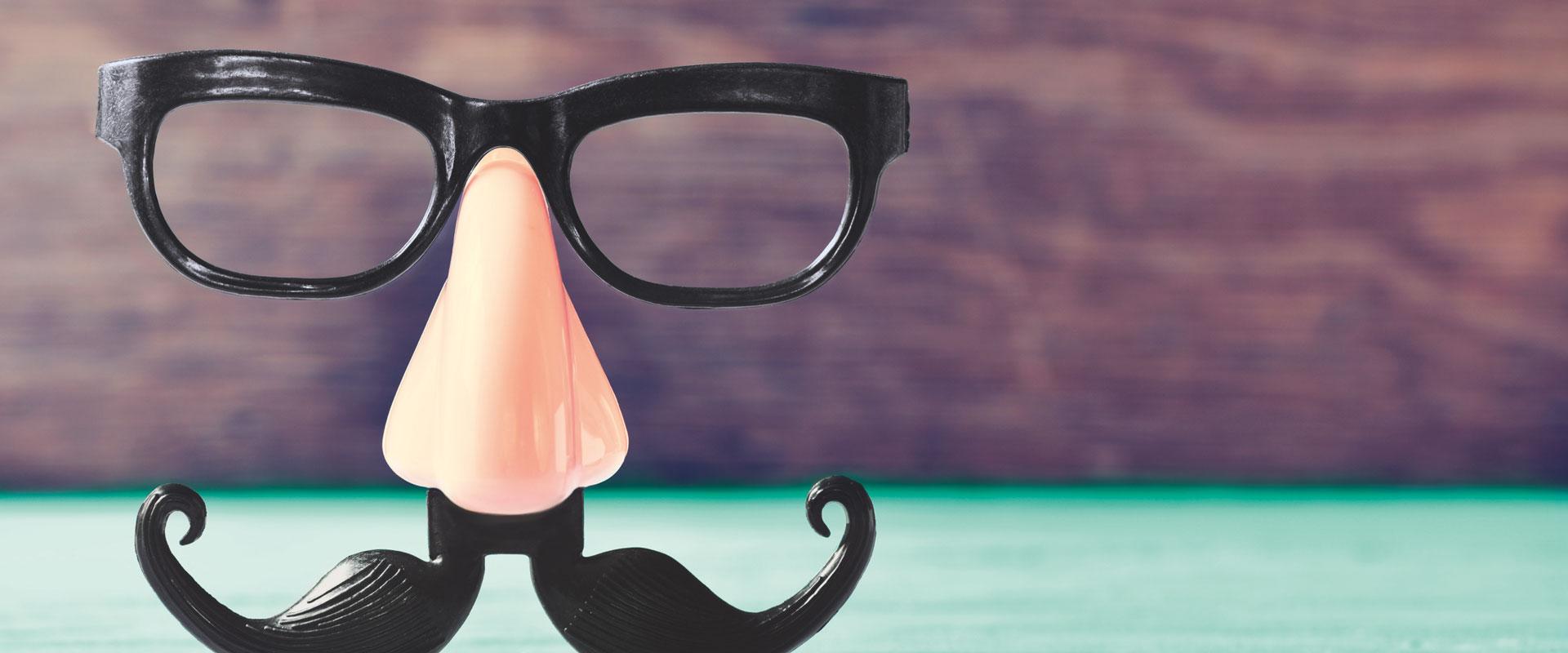 Brille - Nase - Schnauz