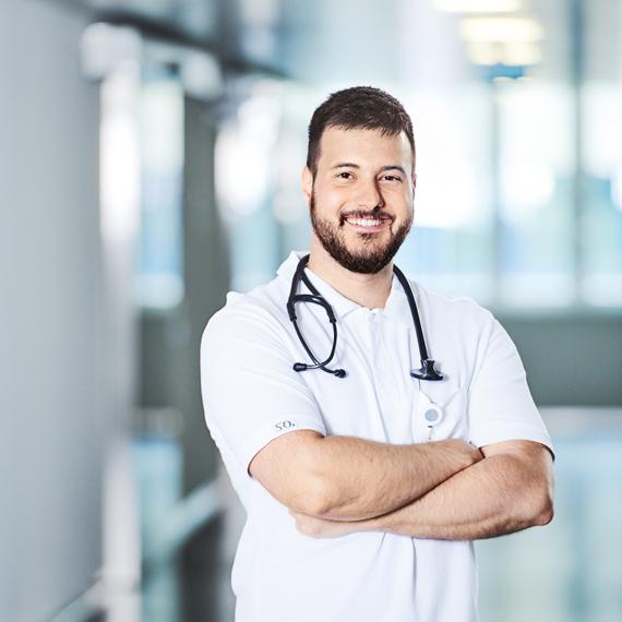 Sebastian Berger, Assistenzarzt, Medizinische Klinik