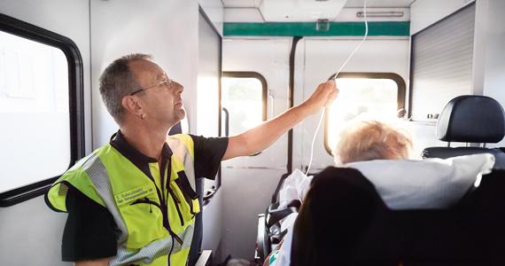 Rettungdienst im Einsatz